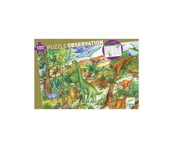 Puzzle observation dinosaures 100mcx
