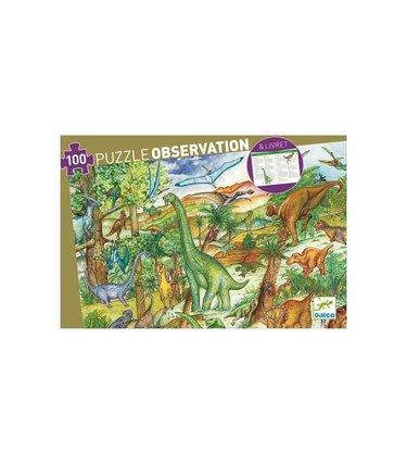 Djeco Puzzle observation dinosaures 100mcx
