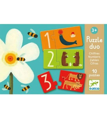 Djeco Puzzle Duo - Chiffres