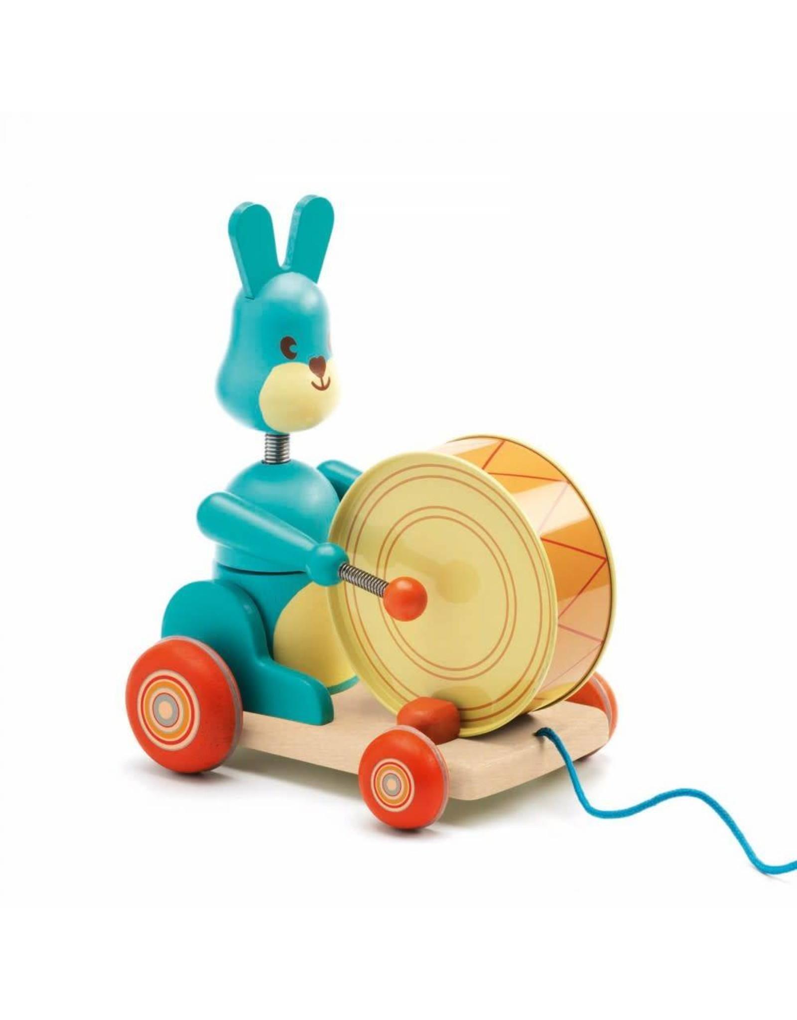 Djeco Jouet à traîner - Bunny Boom