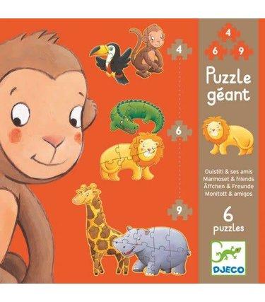 Djeco Puzzle Géant - Ouistiti et ses amis