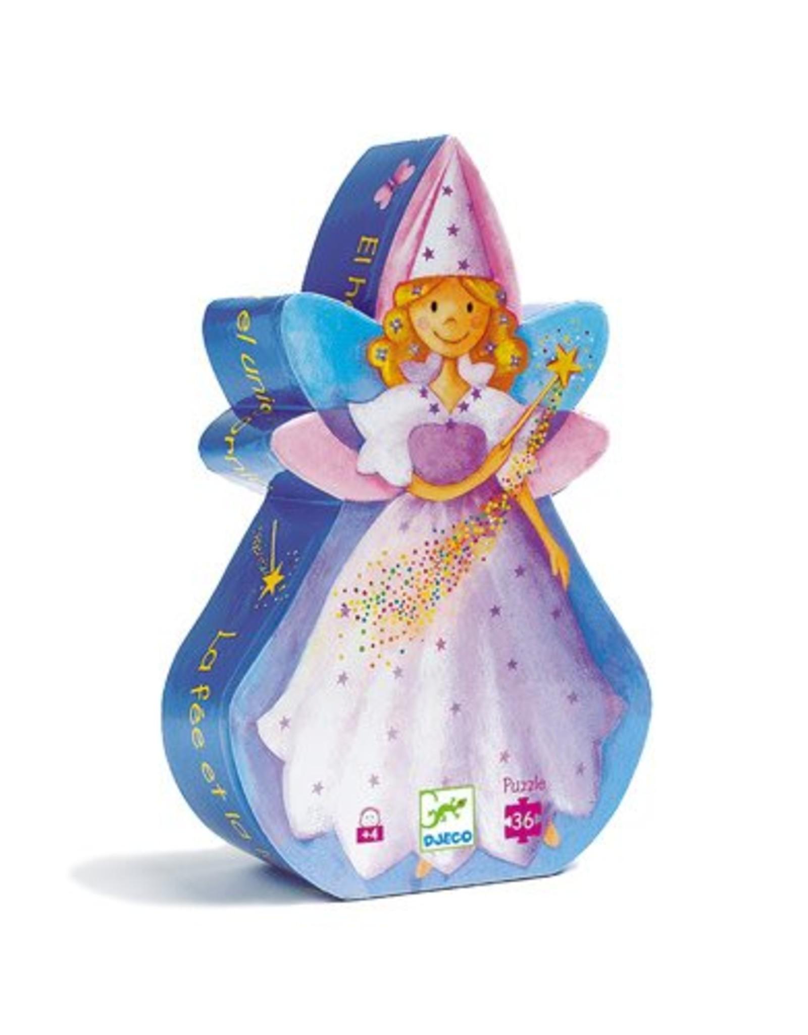 Djeco Puzzle Silhouette - La fée et la licorne 36mcx