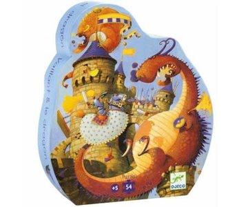 Puzzle Silhouette - Vaillant et le dragon 54mcx