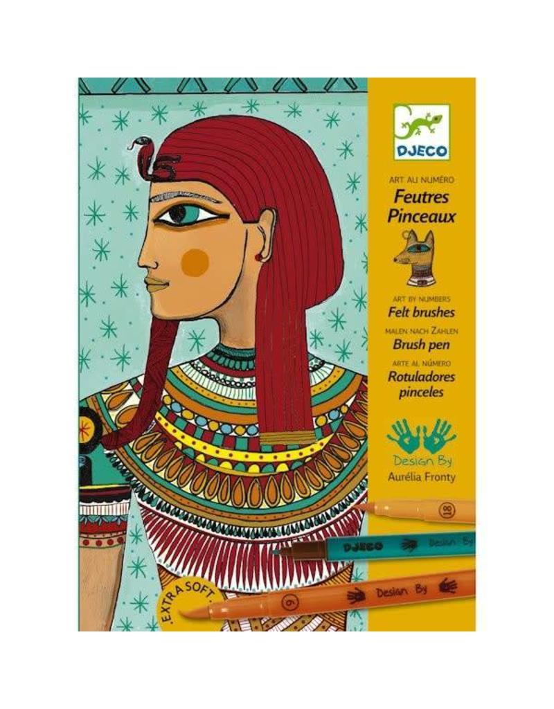 Djeco Feutres pinceaux - Art égyptien