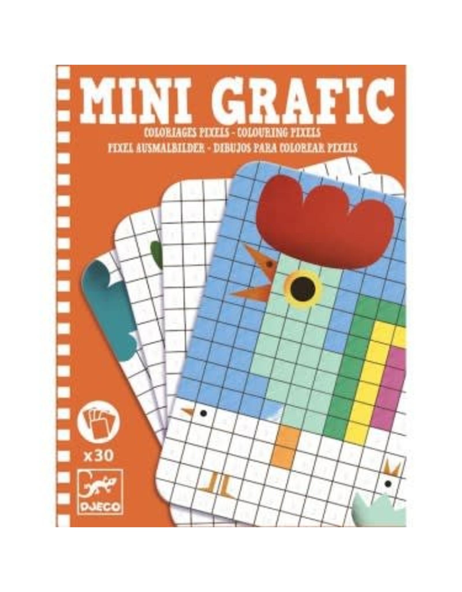 Djeco Mini Grafic - Coloriages Pixels