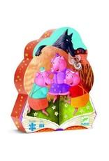 Djeco Puzzle silhouette - Les trois petits cochons