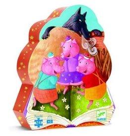 Djeco Puzzle silhouette - Les trois petits cochons 24mcx
