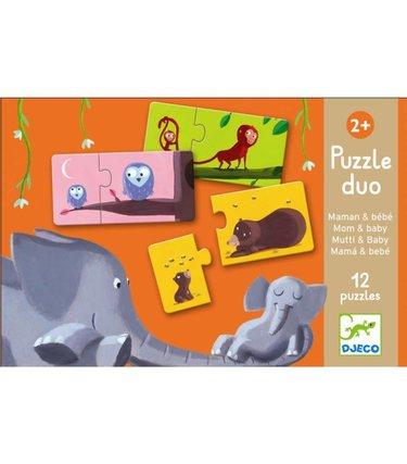 Djeco Puzzle Duo - Maman et bébé