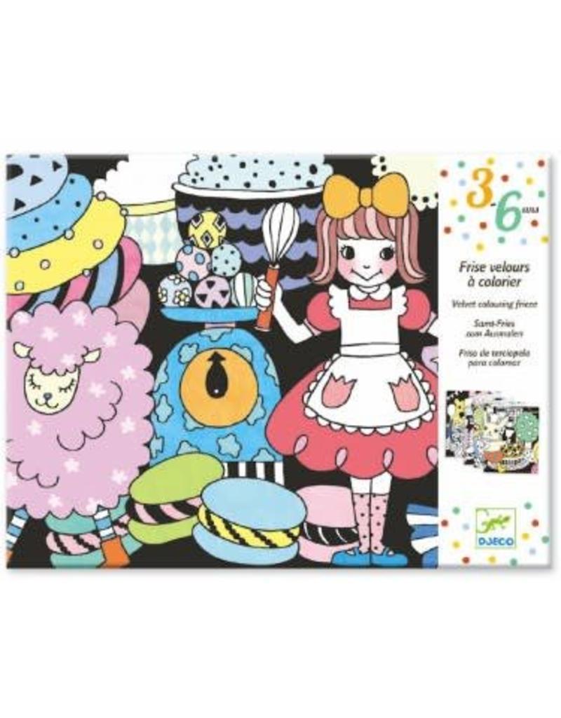 Djeco Coloriage velours - Sweet Parade