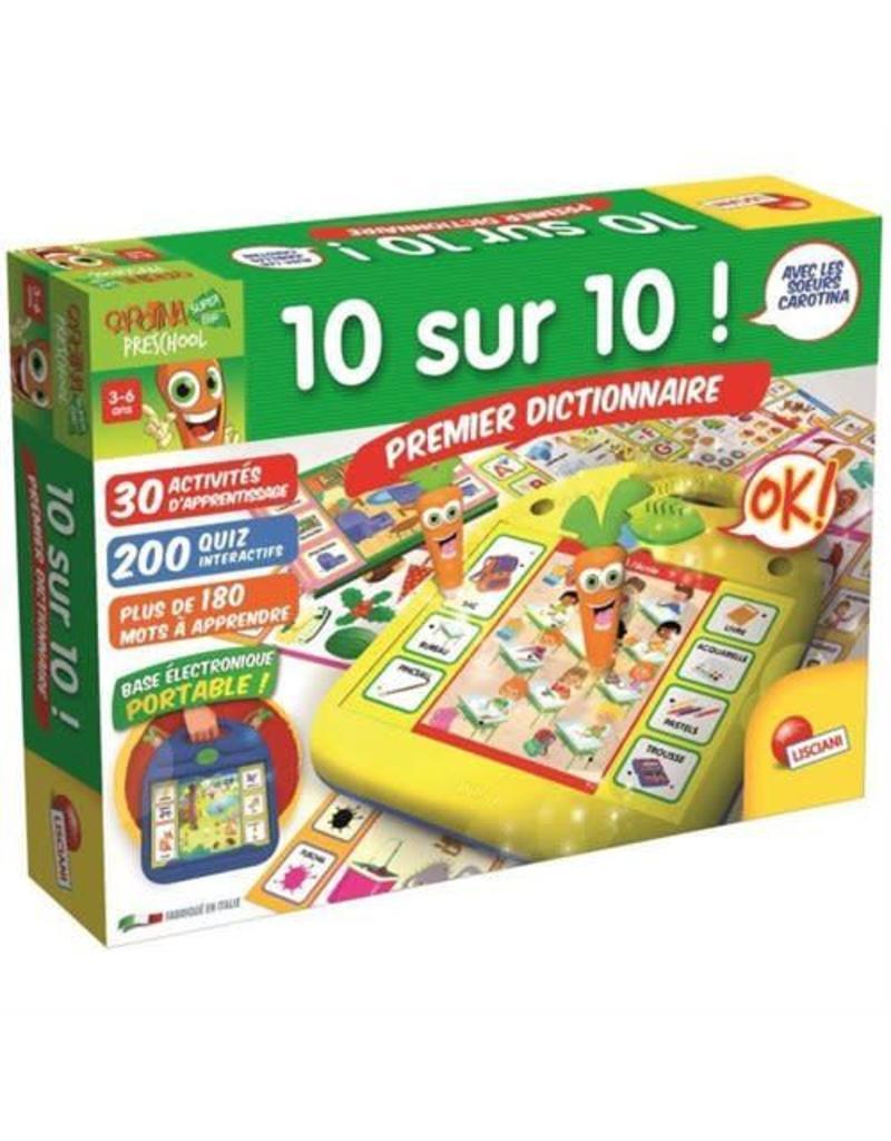 Lisciani Carotte magique 10 sur 10 Premier dictionnaire