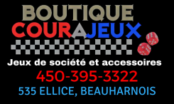 Boutique Courajeux - Jeux de société et accessoires