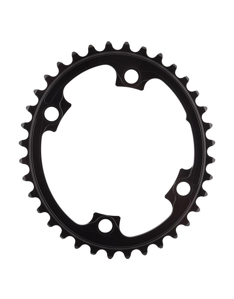 absoluteBLACK absoluteBLACK | Oval 110/130 BCD 2X Chainring, 110mm 4-Bolt, 36T