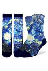 Good Luck Sock 4146-Active Fit-Starry Night 8-13