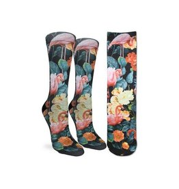 Good Luck Sock 5022-Active Fit-Floral Flamingos 5-9