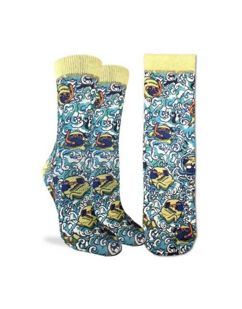 Good Luck Sock 5102-Active Fit-Swimming Pugs 5-9