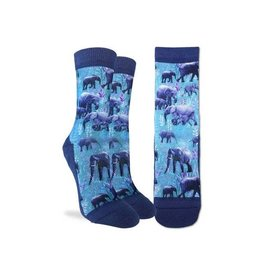 Good Luck Sock 5086-Active Fit-Herd of Elephants 5-9