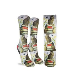 Good Luck Sock 5054-Active Fit-Wise Book Owl 5-9