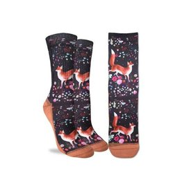 Good Luck Sock 5049-Active Fit-Floral Fox 5-9