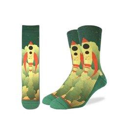 Good Luck Sock 4121-Active Fit Sock Rocket Ship 8-13