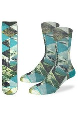 Good Luck Sock 4055-Active Fit-Forest of Triangles 8-13