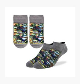 Good Luck Sock 6001-Ankle Sock-School of Fish 7-12