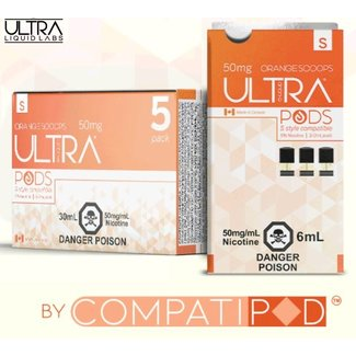 Ultra Pods Orange Dreamsicle (STLTH Compatible)