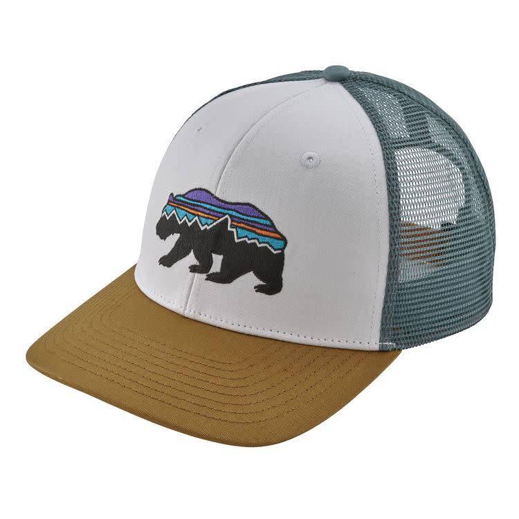 Patagonia Patagonia Fitz Roy Bear Trucker Hat White w/Kastanos Brown ALL