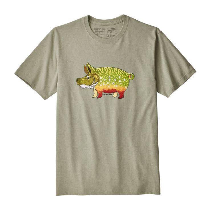 Patagonia Patagonia Men's Fish Hog Responsibili-Tee Drifter Grey M