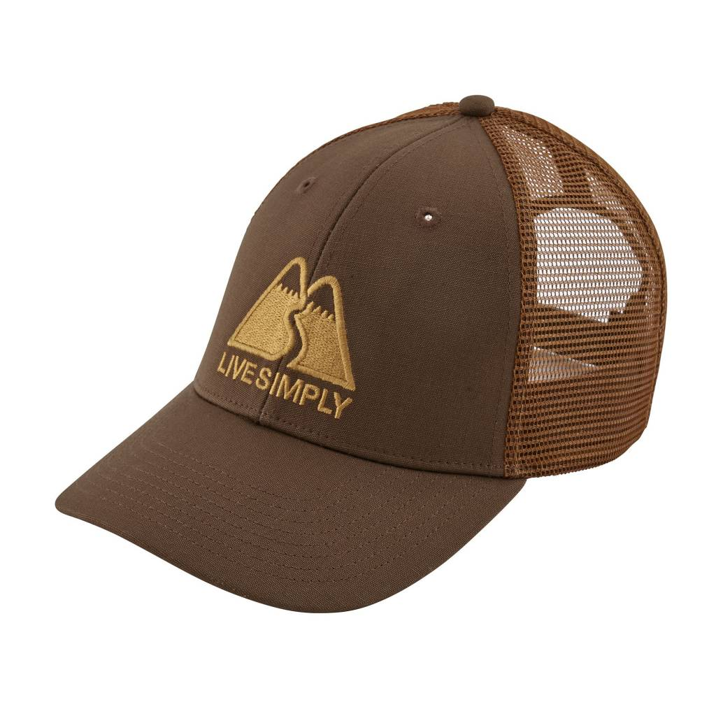 Patagonia Live Simply Winding LoPro Trucker Hat Timber Brown ALL