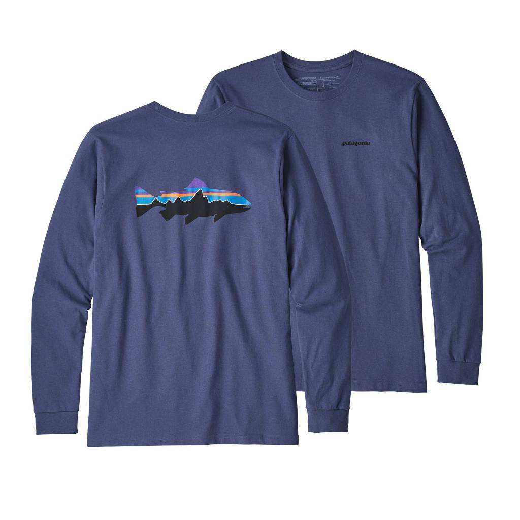 Patagonia Patagonia M's L/S Fitz Roy Trout Responsibili-tee