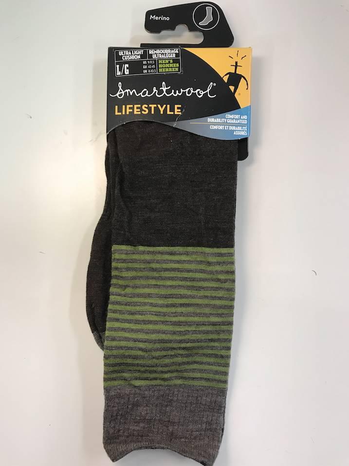 Smartwool Smartwool Men's Tailored Stripe, Chestnut, L