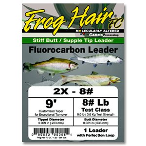 Black Knight/Frog Hair Frog Hair Fluorocarbon Leader,