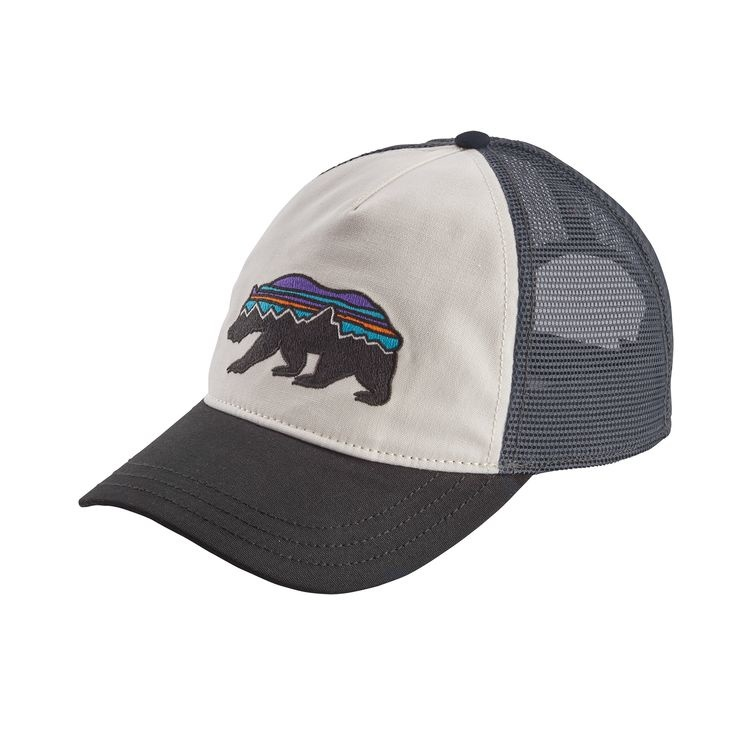 Patagonia Patagonia W's Fitz Roy Bear Layback Trucker Hat White w/Black ALL
