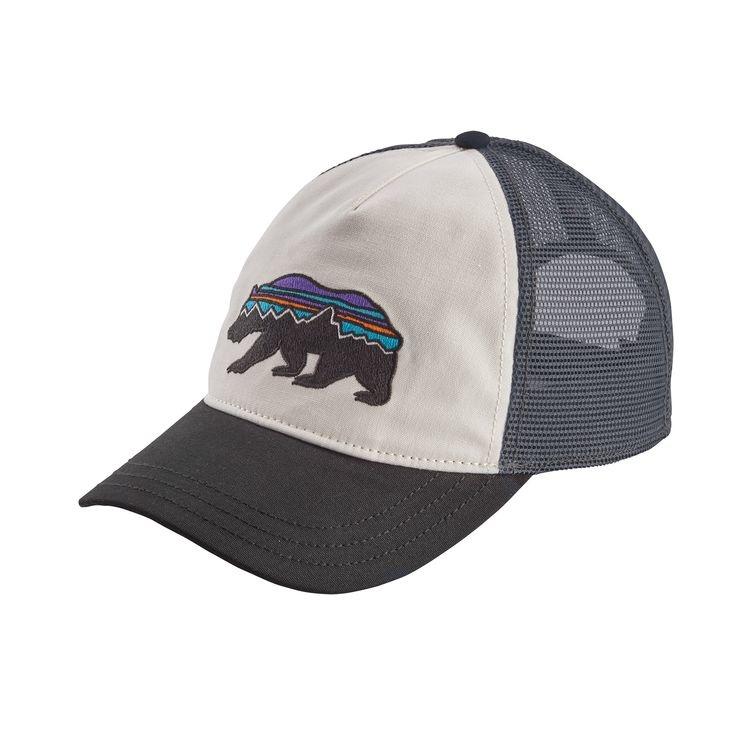 4366292d39bf8 Patagonia Patagonia W s Fitz Roy Bear Layback Trucker Hat White w Black ALL