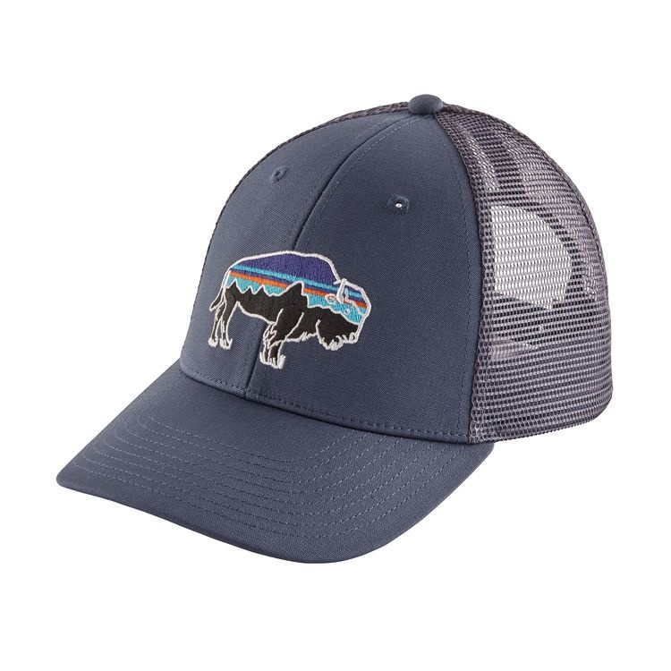 Patagonia Patagonia M's Trucker Hat Fitz Roy Bison: Dolomite Blue ALL
