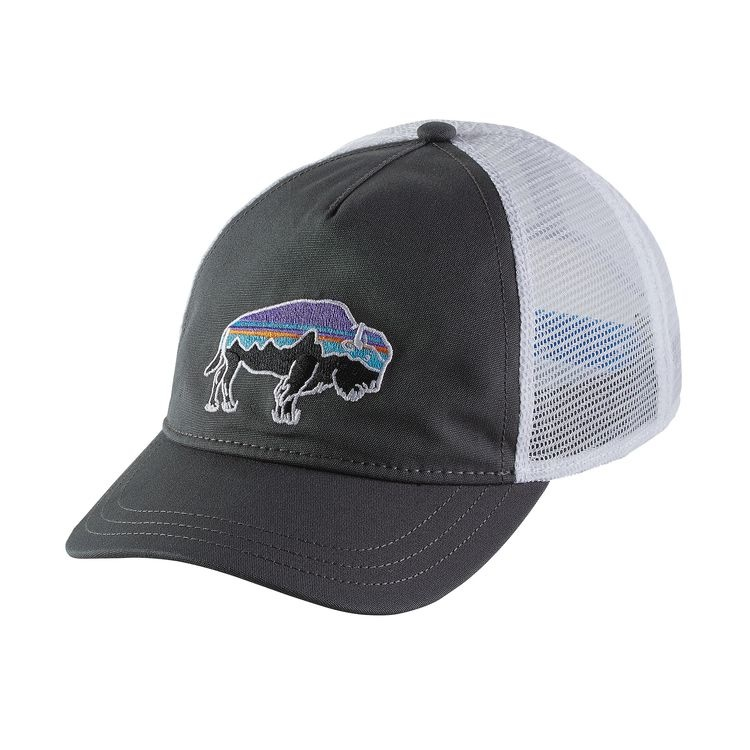 Patagonia Patagonia W's Fitz Roy Bison Layback Trucker Hat Forge Grey ALL