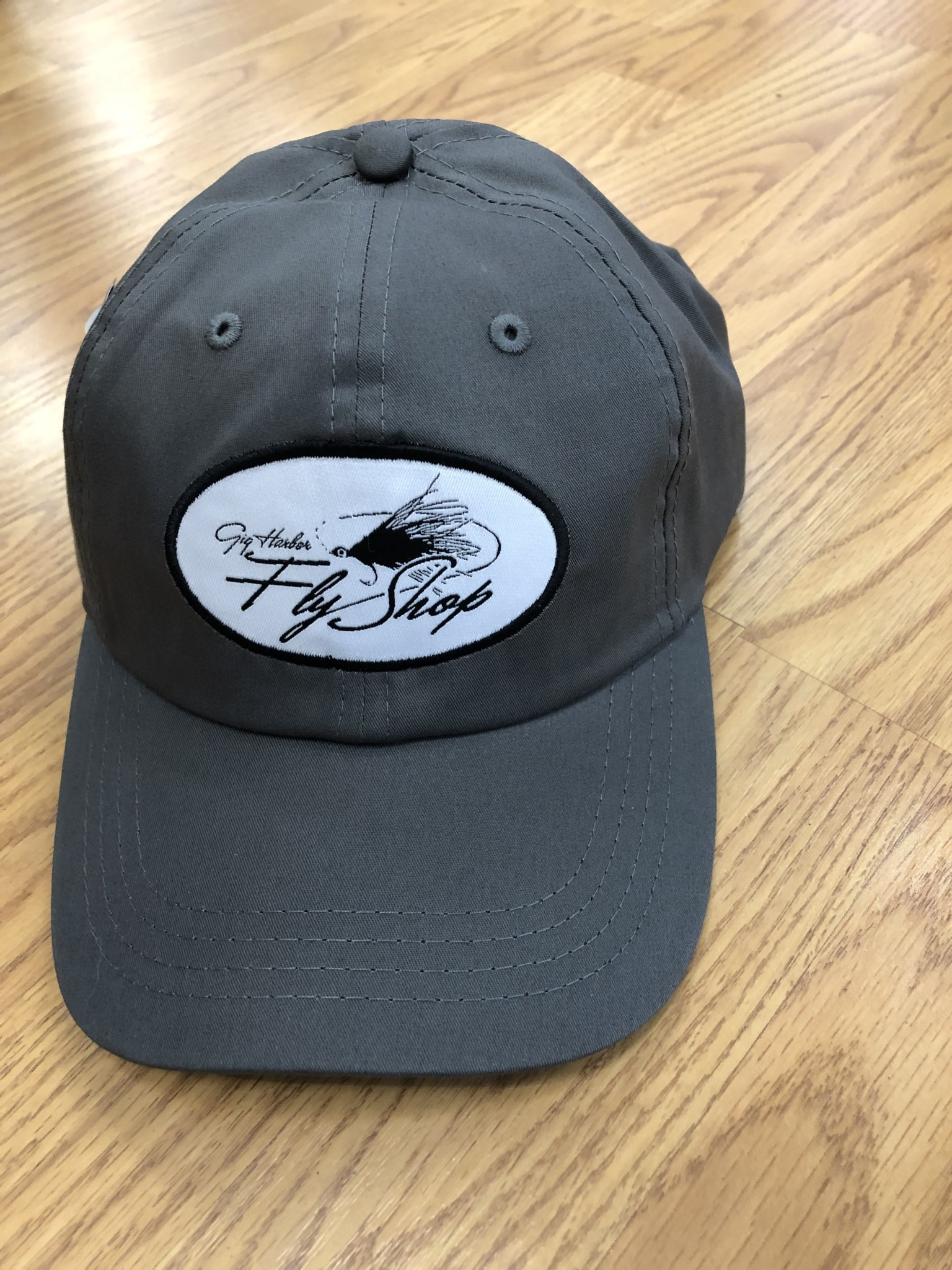 Gig Harbor Fly Shop GHFS Logo Lightweight Hat, Graphite