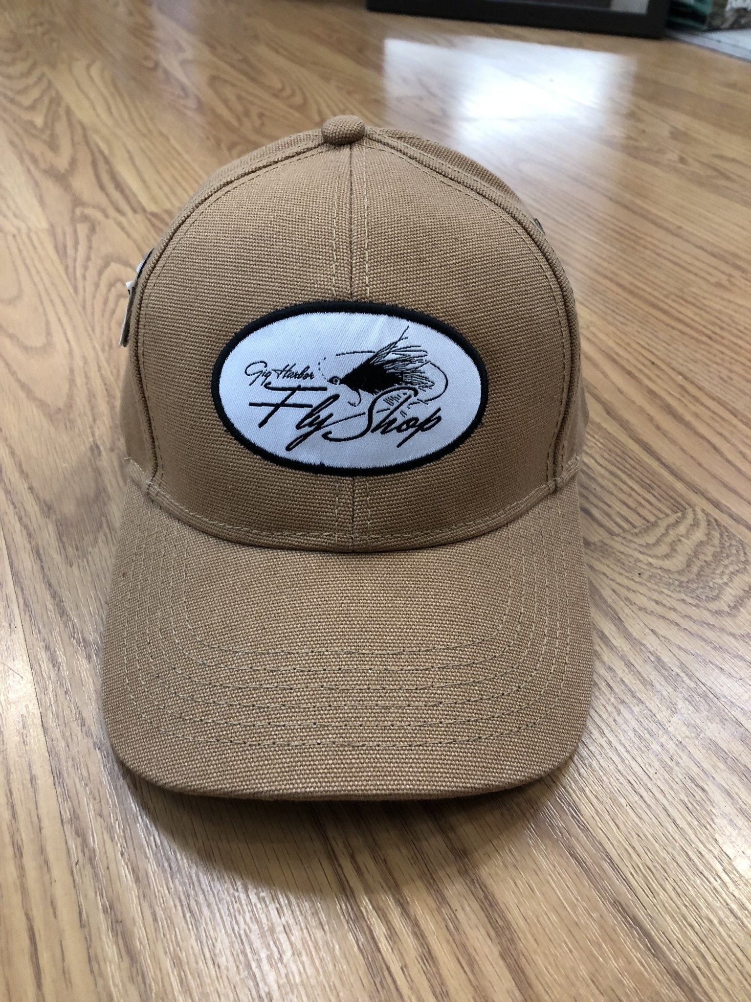Gig Harbor Fly Shop GHFS Logo Cotton Duck Hat, Brown