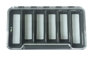 New Phase New Phase Waterproof Clear Thin Fly Box with 6 Magnetic Compartments 7.25x4x1/2