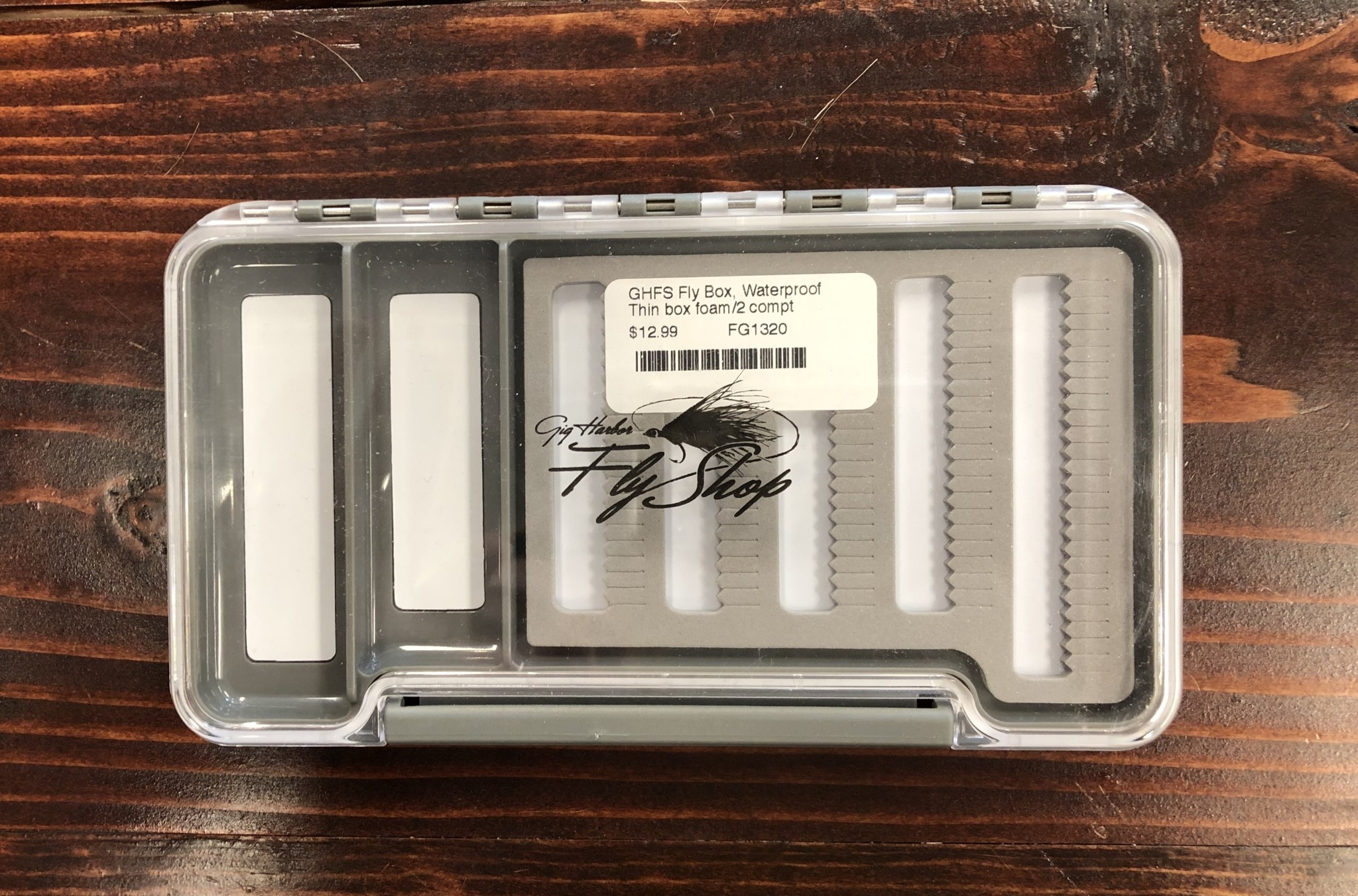 New Phase GHFS Fly Box, Waterproof Thin box foam/2 compt