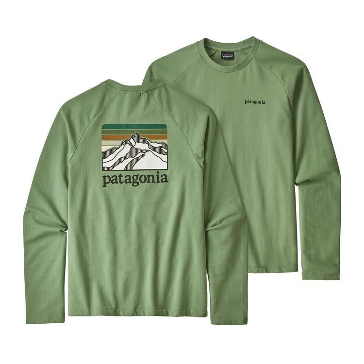 Patagonia M's Line Logo Ridge LW Crew Sweatshirt Matcha Green XL