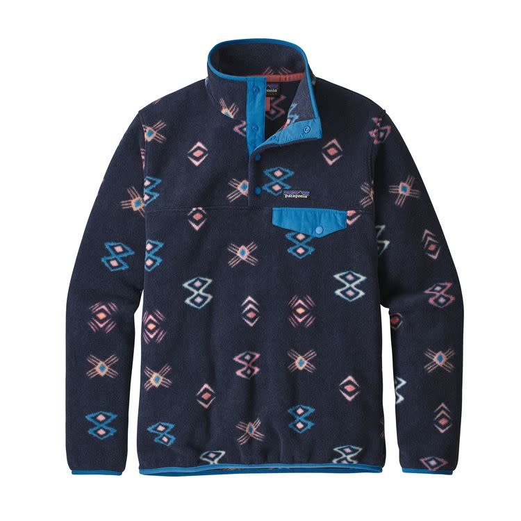 Patagonia W's LW Synch Snap-T P/O Space Spirits: New Navy M