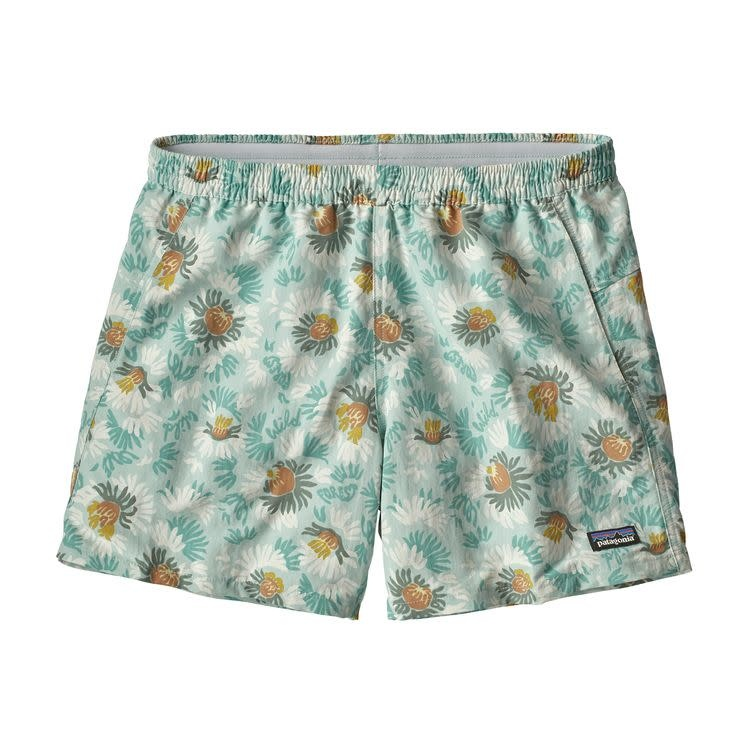 Patagonia W's Baggies Shorts Aurea Blooms: Atoll Blue L