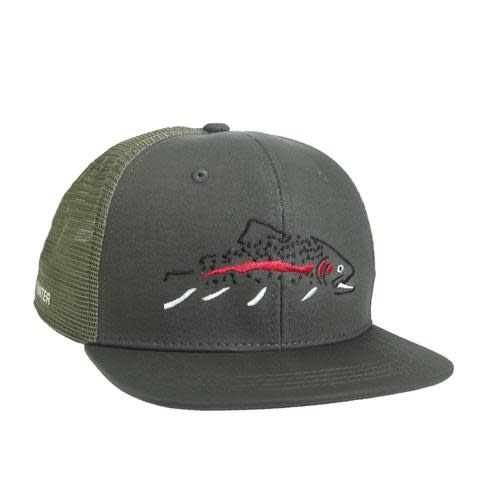 Rep Your Water RepYourWater Minimalist Rainbow High Profile Hat, Green/LT Gray