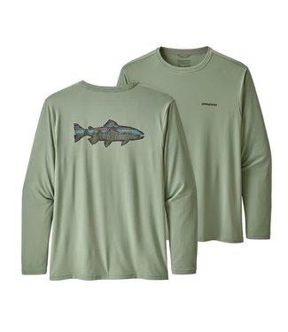 Patagonia Patagonia M's L/S Cap Cool Daily Fish Graphic Shirt,