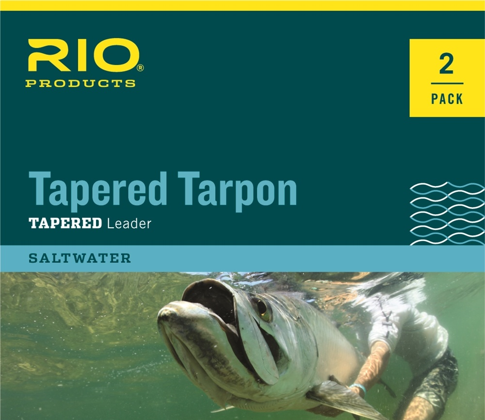 Rio Products Rio Tapered Tarpon Leader 12ft 60lb Fluorocarbon Shock - 2 pack