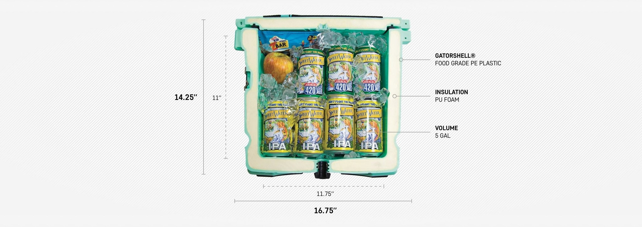 Bote Bote Kula Cooler, Bugslinger Blue 5 Gal