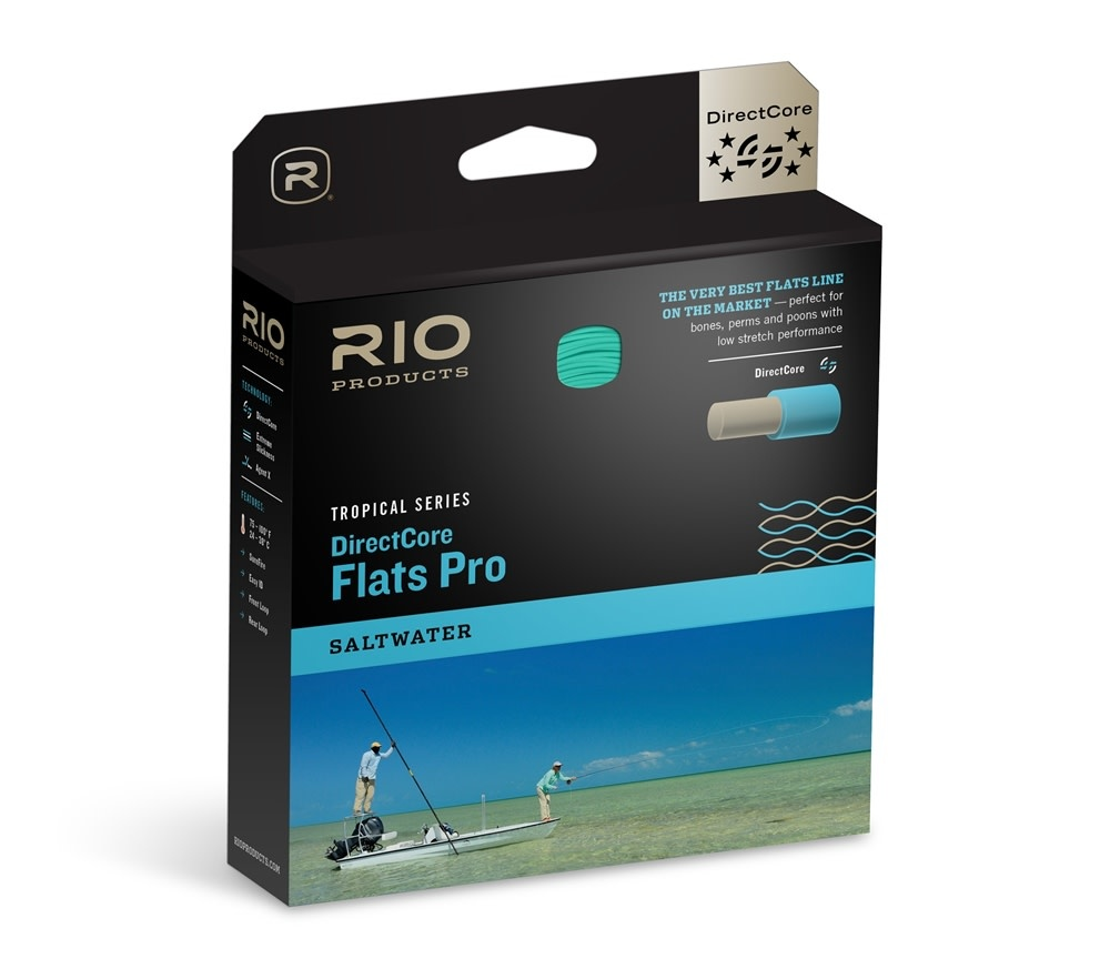 Rio Products Rio Directcore Flats Pro Int Saltwater Fly Line Clear/Orange/Aqua WF10I