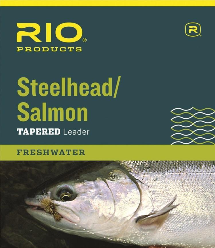 Rio Products Rio Salmon/Steelhead Glacial Green Leader 3-Pack,