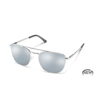 Suncloud Suncloud Sunglasses, Matte Silver/Polar Silver Mirror Fairlane